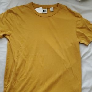 Quicksilver Gold Yellow Crew Neck Surf T Shirt
